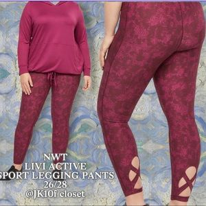 NWT LiviActive 26/28 Moisture Wicking Sports Pants